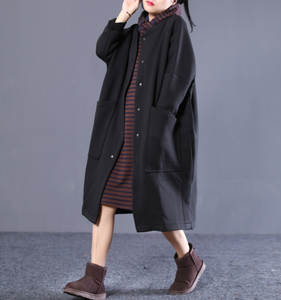 Casual Coat Loose A line Parka Plus Size Coat Jacket