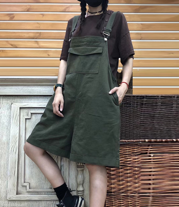 Casual Cotton Loose Casual Summer Overall Women Jumpsuits QYCQ05165