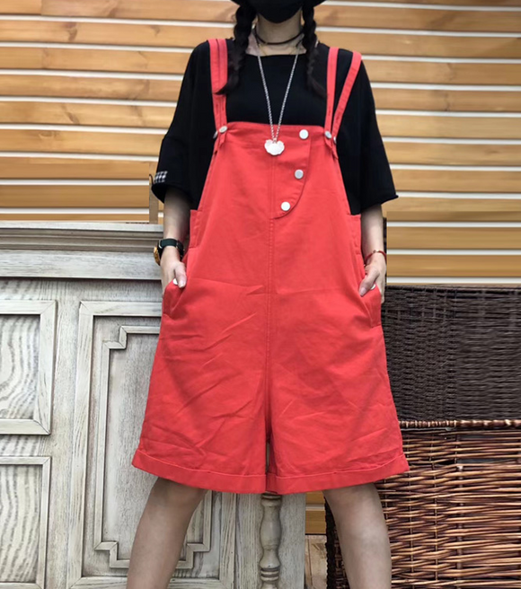 Denim Casual Cotton Loose Casual Summer Overall Women Jumpsuits QYCQ05165