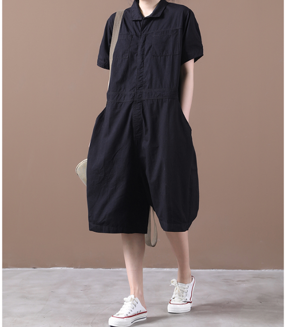 Casual Summer Denim Overall Loose Women Jumpsuits WGQ05165