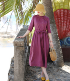 Linen Summer Women Dresses GJ961723
