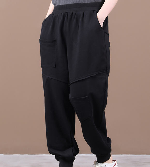 Summer  Wide Leg Women Casual Pants Elastic Waist WG05131