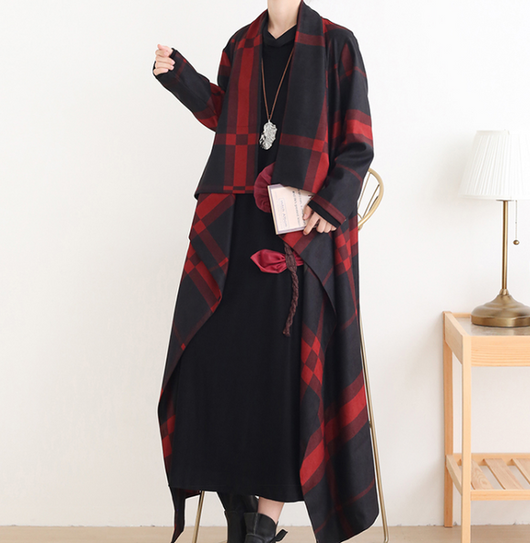 Loose Long Sleeve Women Dresses Trench Coat Casual Women Dresses SSM97215