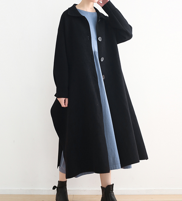 Loose Women Coat Winter Wool Coat Plus Size Coat