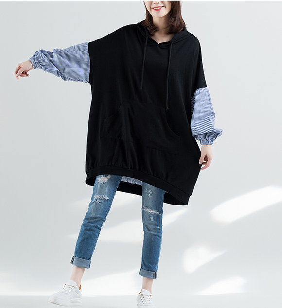 Patchwork Dresses Loose Winter Autumn Dresses Casual Women Dresses ZRL97213