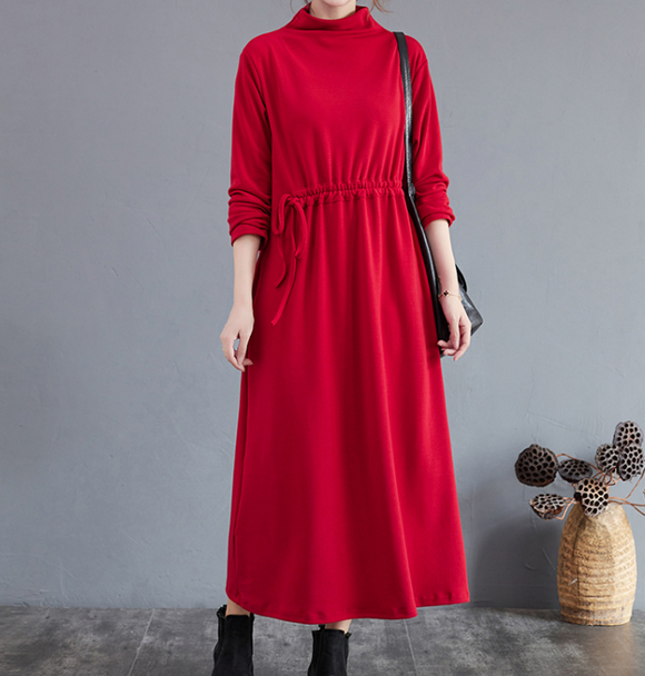Cotton Dresses Loose Winter Autumn Dresses Casual Women Dresses ZRL97213
