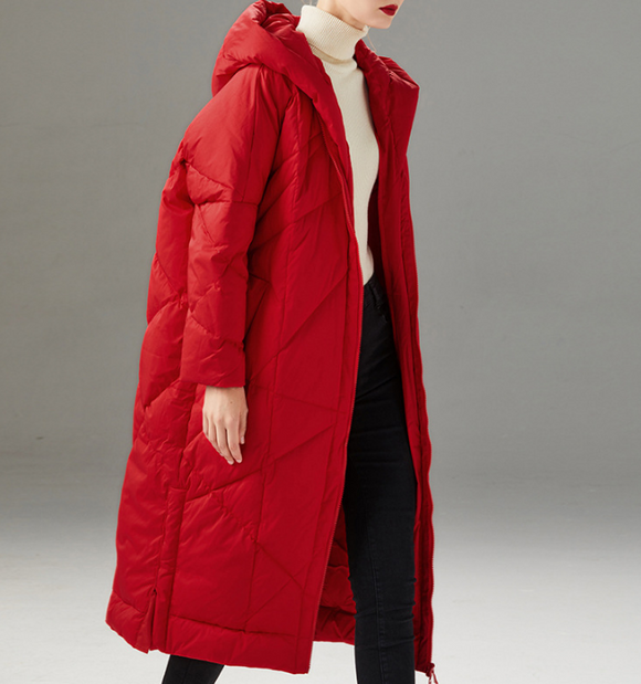 Hooded Women Loose Winter Jacket Winter Women Down Coat BC1008