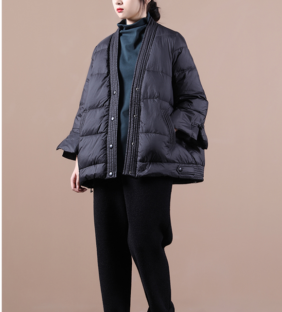 V Neck Women Loose Winter Jacket Winter Women Down Coat BC1008