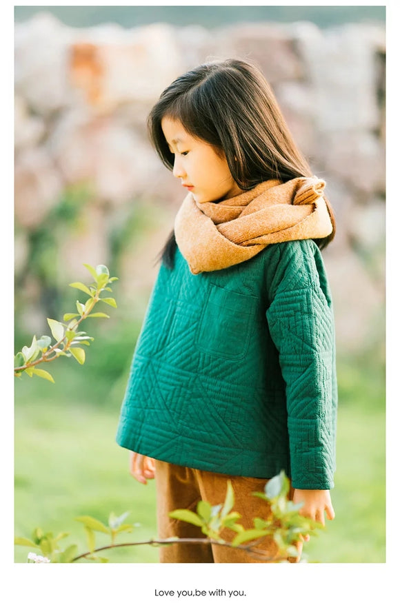green kids linen cotton tops girls tops coats