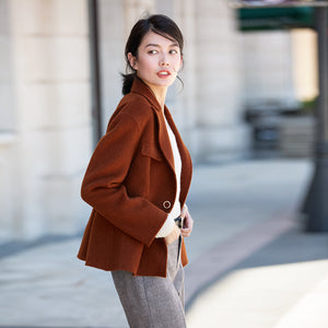 Women Wool Coat Double Face Cashmere coat