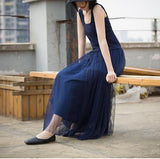 Blue-women-summer-Gauze-Tutu-skirts