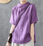 Summer Women Casual Blouse Linen Shirts Tops DZA2007222