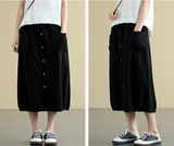 Casual Cotton Linen loose fitting Women's Skirts DZA2007214