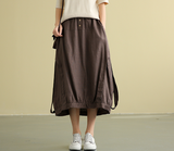 Casual Linen loose fitting Women's Skirts