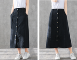 Casual Cotton loose fitting Women's Skirts