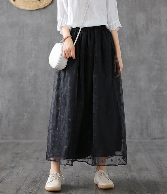 Casual Lace  loose fitting Women's Skirts