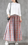 Floral Casual Cotton loose fitting Women's Skirts