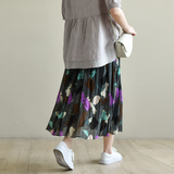 Casual Polyester loose fitting Women's Skirts