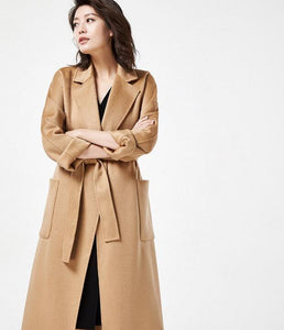 Long Wool Coat Double Face Cashmere Coat