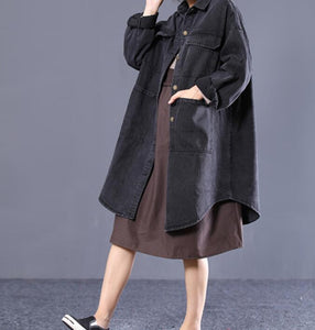 Loose Long Hooded Casual Coat A line Parka Plus Size Coat Jacket