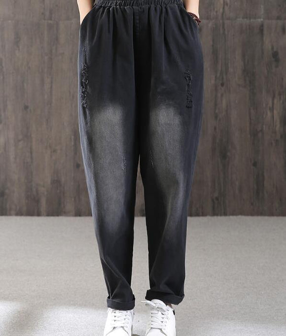 Cotton Loose Casual Women Cotton Harem Pants Wide Leg Pants SJ981106