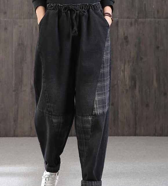 Casual Women Cotton Harem Pants Wide Leg Pants SJ981106