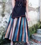 Colorful Striped Women's Skirts SJ98409