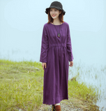 Loose Sleeve Line Women Dress   YM201229