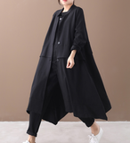 Cotton Loose Casual Coat A line Parka Plus Size Coat Jacket