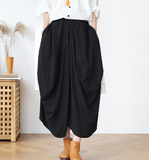 Striped Linen  Women's Skirts