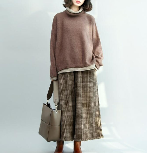 Long Sleeve  loose Style Women Dress Woolen Knit Sweater