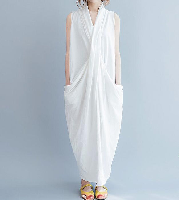 Long Linen Women Spring Dresses Plus Size