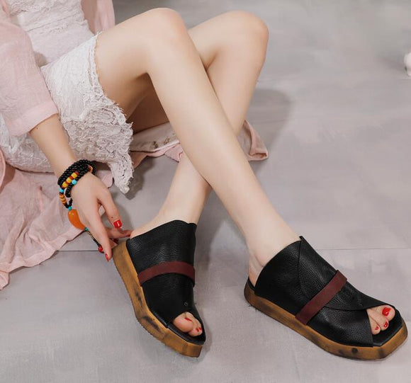 women leather shoes sandals