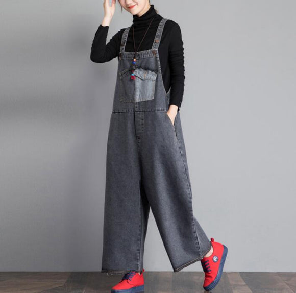 Casual Spring Denim Overall Women Jumpsuits PZ97251