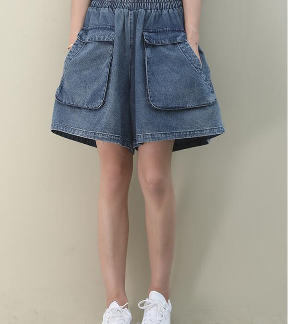 Denim Summer Women Cotton Shorts