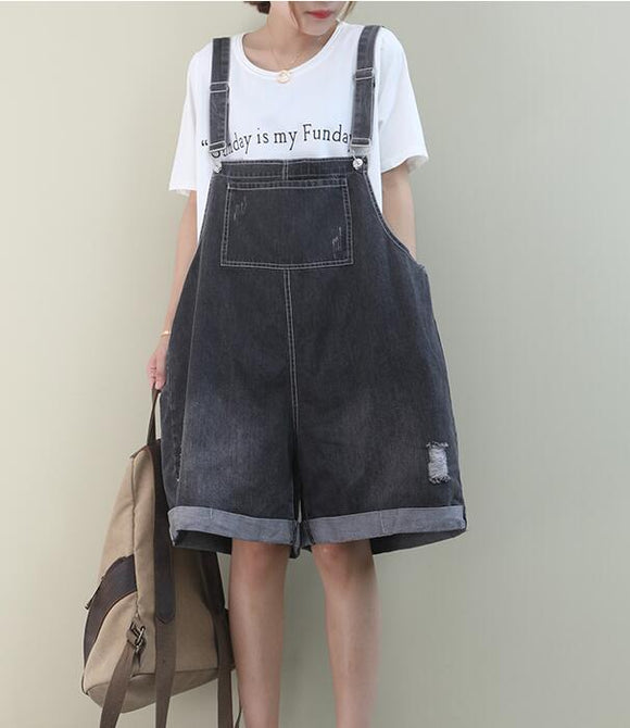 Denim Loose Casual Summer Denim Overall Loose Women Jumpsuits QYCQ05165