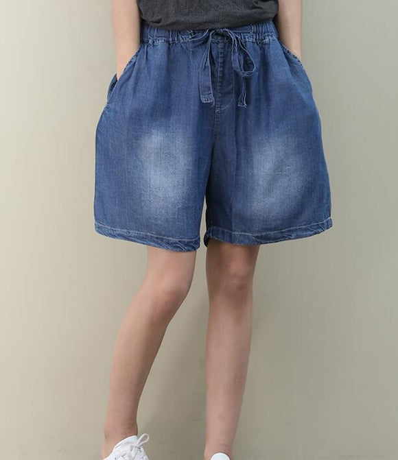 Loose Denim Cotton Pants Summer Women Shorts