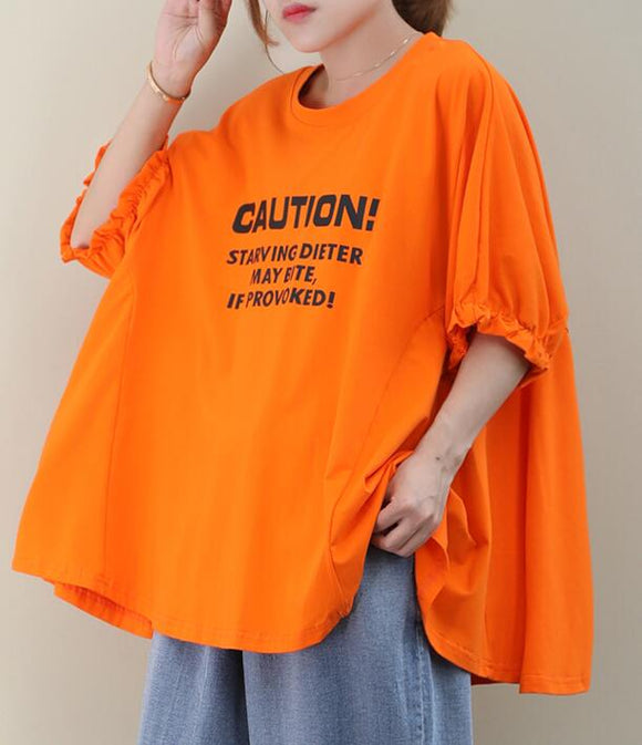 Loose Casual T-Shirts Summer Women Cotton Tops WG961707
