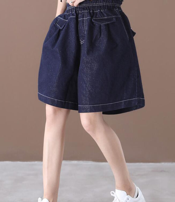 Denim Loose Denim Cotton Pants Summer Women Shorts