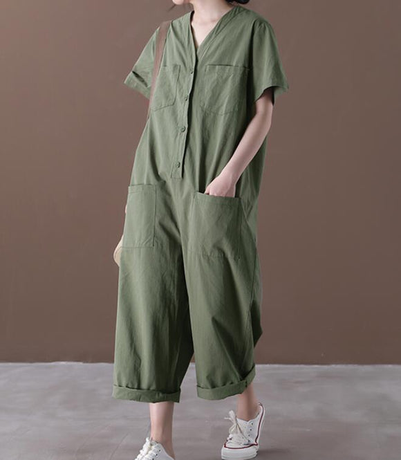 Summer  Women Casual Cotton Linen Jumpsuits PZ97251