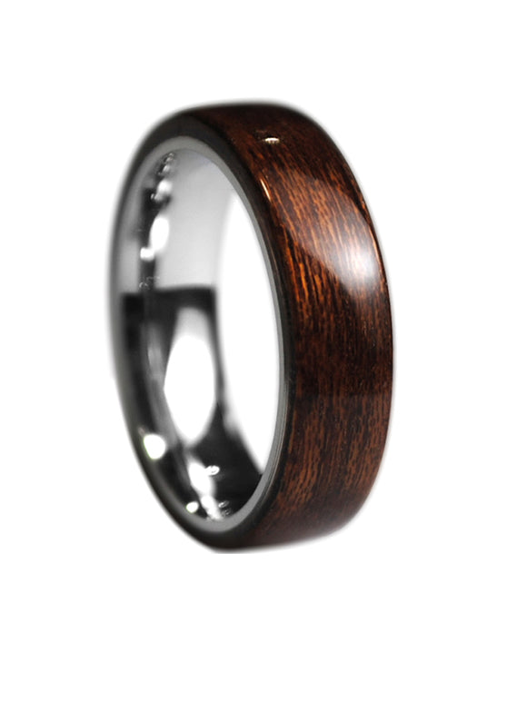 Original Design Wood Ring Men's  Handmade Walnut Titanium Gift Custom Made Wooden