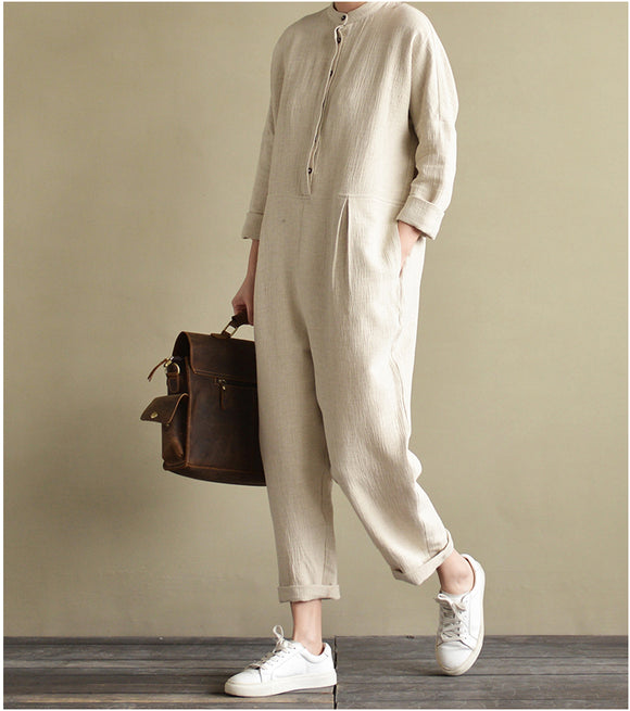 jumpsuit linen women linen Jumpsuit