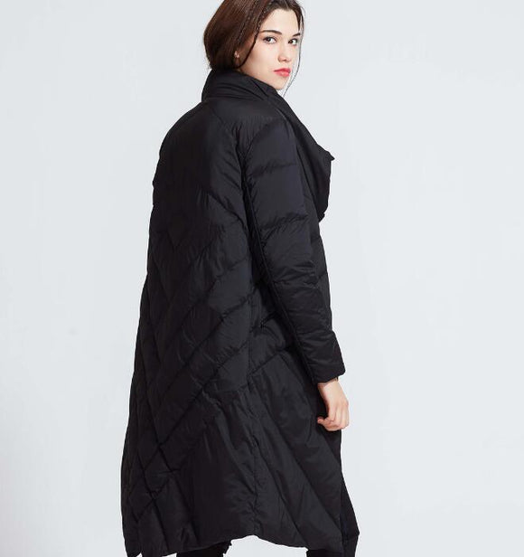 High Collar Women Winter Thick 90% Duck Down Jackets Warm Down Coat Any Size