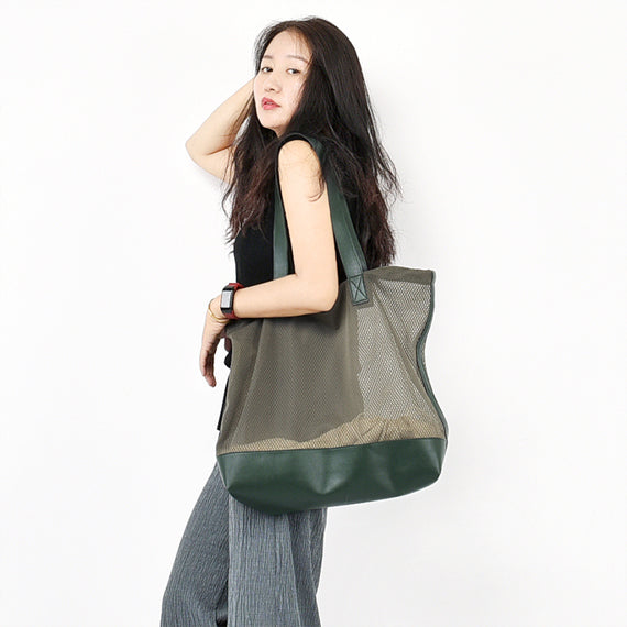 Transparent Casual Simple Style Women Backpack Shoulder B12