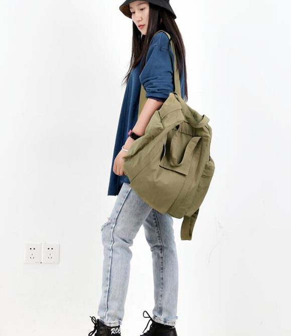 Casual Backpack Simple Large Women Travel Bag Shoulder Bag