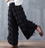 Casual  Women Casual Cotton Wide Leg Pants SJ981106