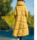 Long Winter Duck Down Jacket, Hooded Down Jacket Women Plus Size