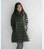 A-line Casual Hooded Winter Women Down Jacket Any Size