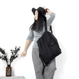 Casual Canvas Simple Style Women Backpack Shoulder Bag