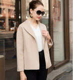 Handmade Short Cashmere Coat Warm Women Wool Coat Jackets